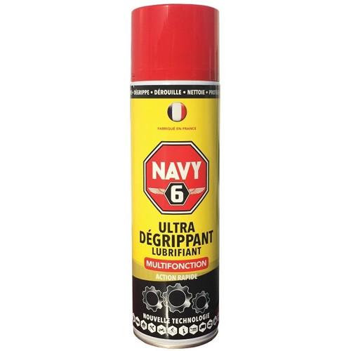 NAVY 6 - lubrifiant - degrippant - dérouille - protege - nettoie - chasse l' eau